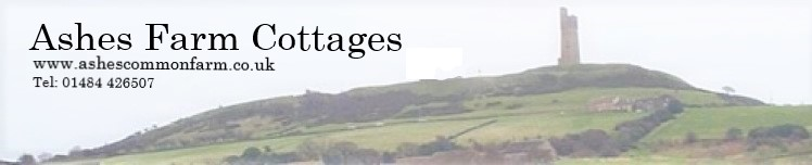 Ashes Farm Cottages header image.  Tel: 01484 426507
